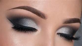 out makeup tutorial black silver smokey eye
