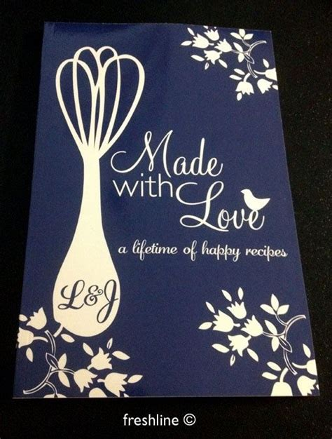 Wedding Shower Gift Book by Idea Put Together Your Favorite Recipes And Get Them