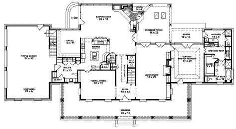 plantation house floor plans louisiana plantation style house plan 1 5 story 4