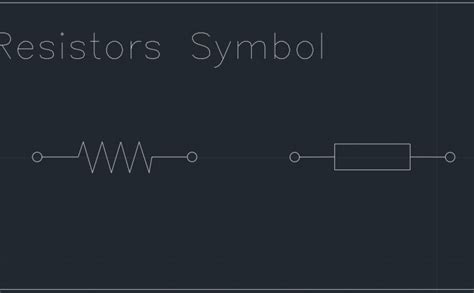cad symbol for resistor electrical free cad block and autocad drawing