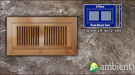 Bamboo Vent Grill Cover Flush Mount 4x12 Carb Horizontal