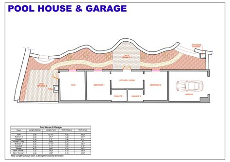 home plans with pool 2 pool house floor plans