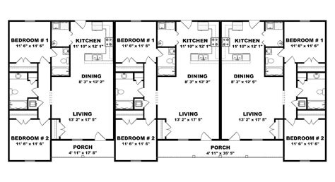 triplex floor plans triplex plan j0201 13t