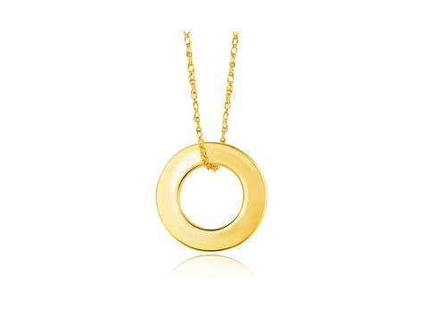 open circle pendant in 14k yellow gold richard cannon
