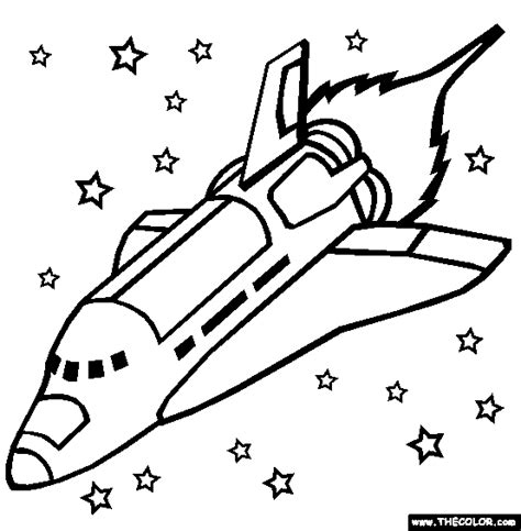 Space Shuttle Coloring Page Free The Online sketch template