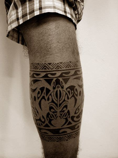 tribal tattoo knee 25 best ideas about polynesian leg on
