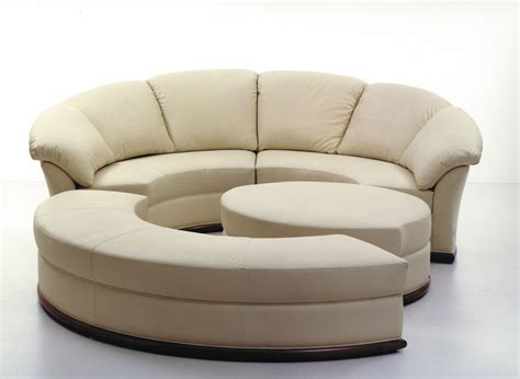 round leather sectional round sofa modular contemporary leather planet nieri