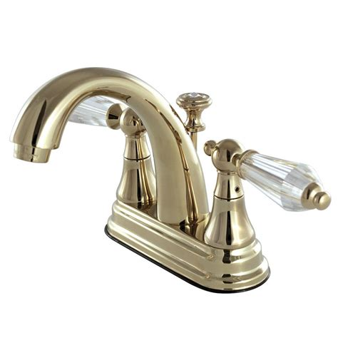 crystal bathroom faucets kingston brass english crystal 4 in centerset 2 handle
