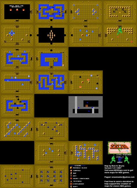 legend of zelda map level 6 nintendo cartes map et guide officiel legend of zelda