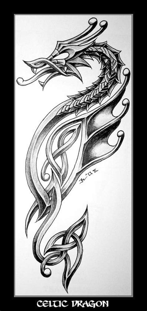 tattoo dragon celtic celtic dragon tattoo design tattoo ideas pinterest