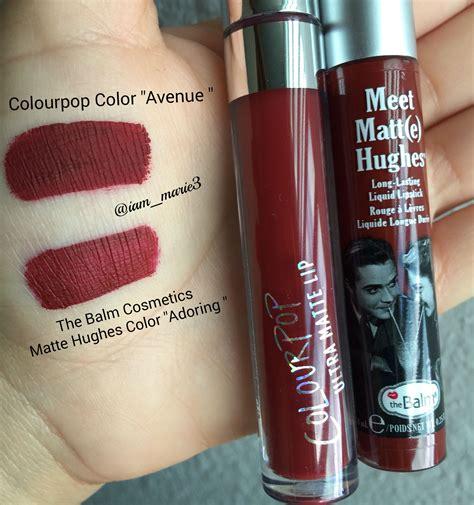 The Balm Matte Hughes Adoring colourpop color quot avenue quot 6 00 the balm cosmetics matte