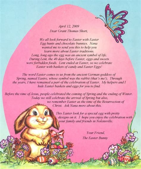 easter letters from god bible stories books letter from the easter bunny personalized books canada