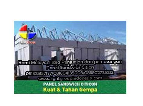 Jual Rockwool Sandwich Panel toko sandwich panel lightgroup 081325157177 081804135008