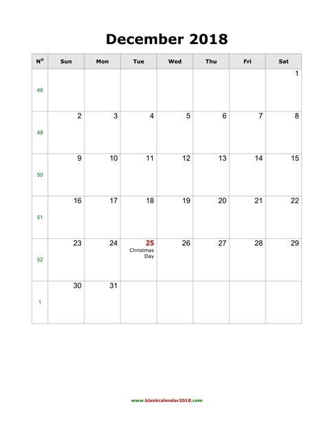 printable calendar landscape december 2017 blank calendar for december 2018