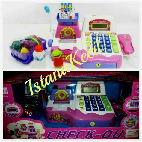Mainan Kasir Kasiran Cah Register Pink jual mainan anak kasir kasiran register checkout besar baru new istana kecil