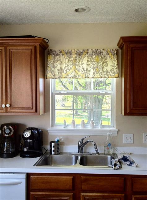 Kitchen Without Cornice by Kitchen Window Valance Ideas Window Treatments Design Ideas