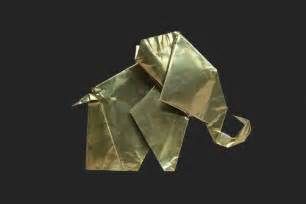 Metal Origami - metal origami elephant artifact by site store