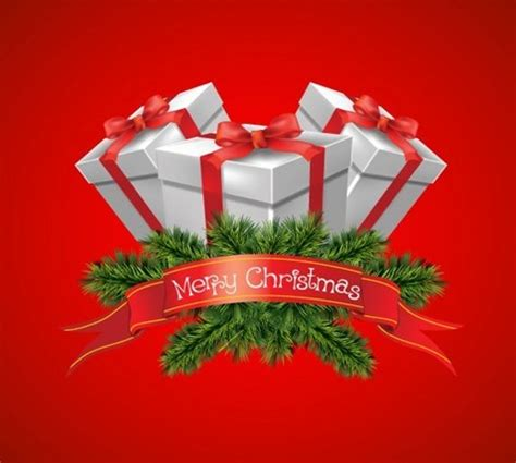 christmas gift boxes vector graphic free vector graphics