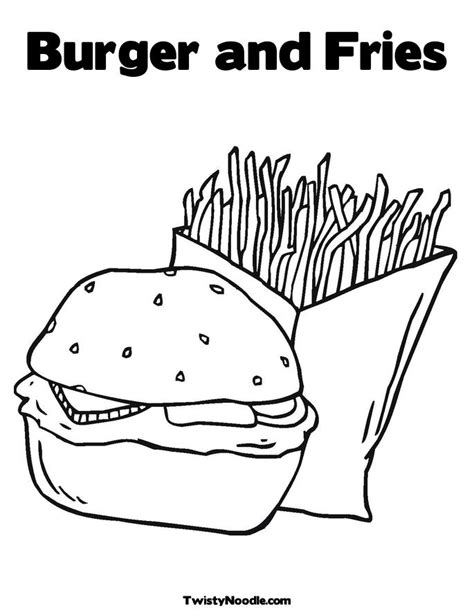 burger king coloring pages colouring burger