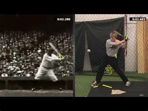 babe ruth swing babe ruth hitting mechanics youtube