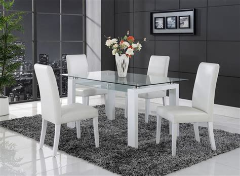 Modern White Glass Dining Table Modern White Solid Wood Rectangular Glass Glass Top Dining Table Minimalist Desk Design Ideas
