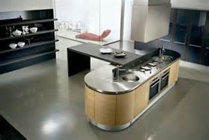 modern island kitchen designs cocinas peque 241 as modernas