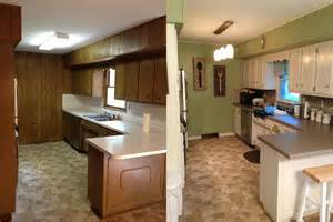 kitchen before after 70 s ranch style house kitchen update amazing what paint can do
