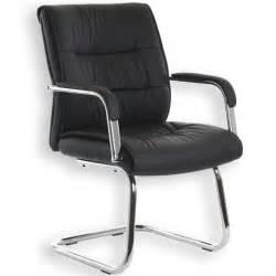 chaise visiteur cedric noir achat vente chaise de
