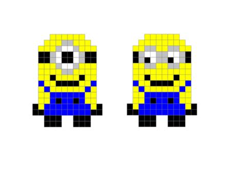 Drawing 8 Bit Characters by 8 Bit Minions Picture For Scale Drawing Enlargements
