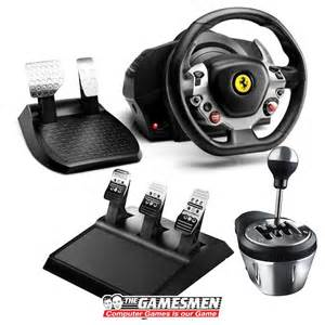 Steering Wheel For Xbox 360 With Gear Stick Racing Simulator Thrustmaster Tx Shifter Th8a Clutch Pedal