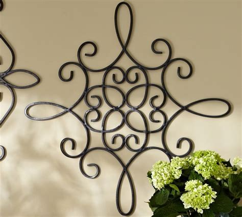 Outdoor Iron Decor iron wall medallion square outdoor decor