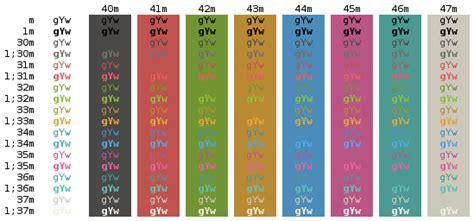 bashe color ansi color codes