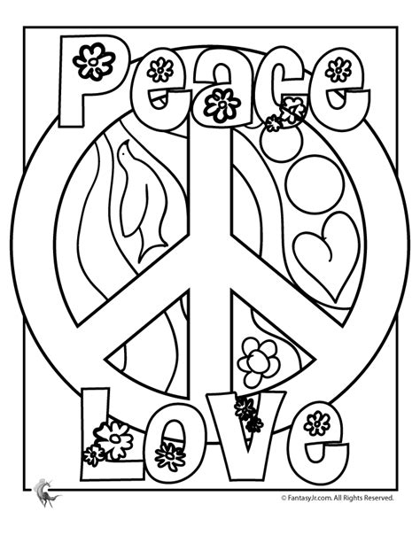 coloring pages for adults peace flower power coloring pages flower coloring page