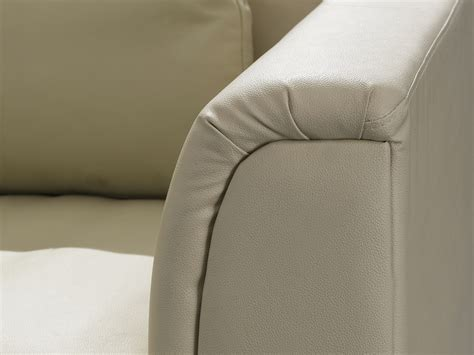 Beige Leather Chaise Lounge Corner Sofa Genuine Leather Metal Legs With Chaise Longue Lounge Beige Ebay