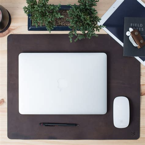 leather desk mat pad mouse pad gifts for men anniversary