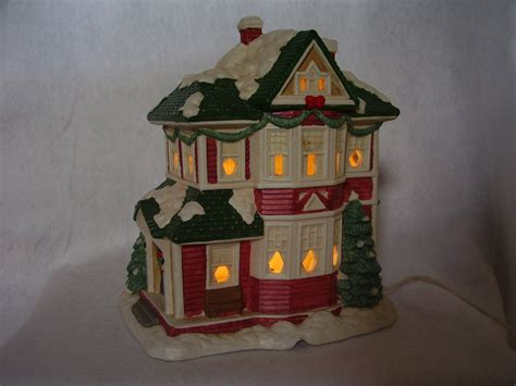mervyns village square christmas village lighted victorian