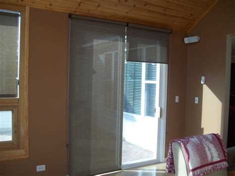 patio door roller shades pin by gran on sliding door window coverings