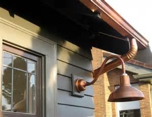 copper barn light copper gooseneck lighting for 1920s craftsman style home
