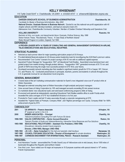 Mba Application Employment Record by Product Development Manager Resume Sle