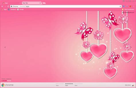google themes girly pink butterfly ornament chrome theme chromeposta