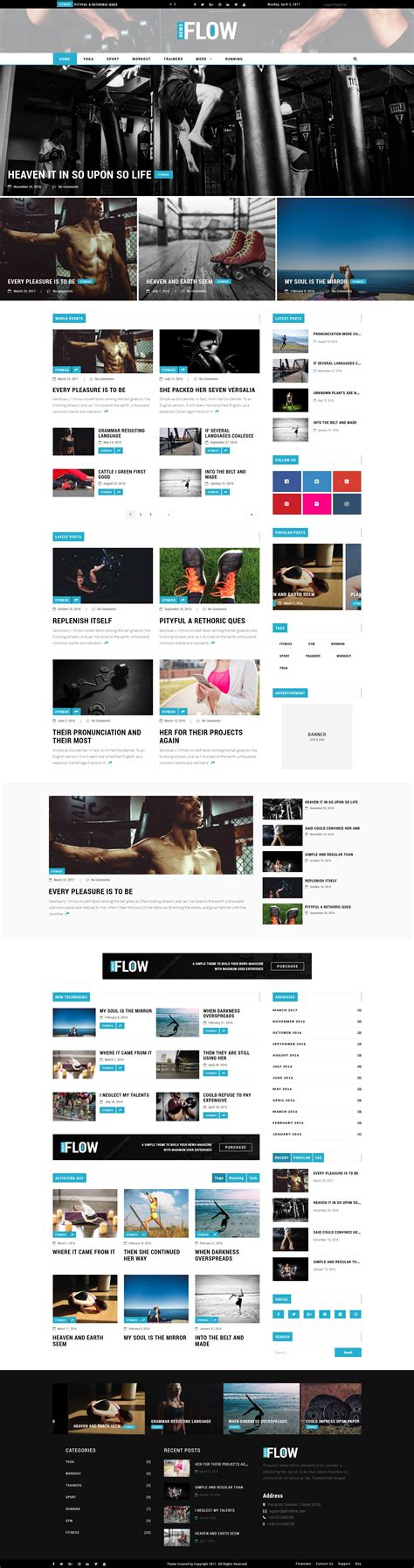 blog theme in themeforest flow news magazine and blog wordpress theme by ad theme