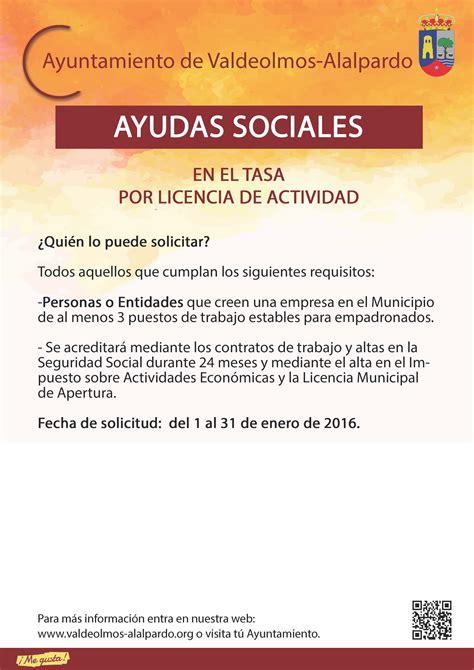 el ayuntamiento concede licencia de actividad a tres empresas ayuntamiento de laredo ayudas sociales en la tasa por licencia de actividad ayuntamiento de valdeolmos alalpardo