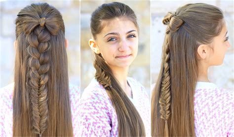 Picture Of Hairstyles by Half Up Bow Combo Hairstyles