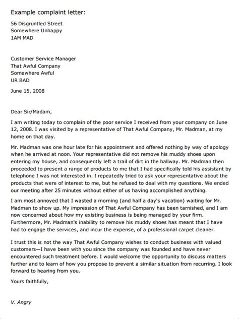Formal Complaint Letter Against Manager sle formal complaint letter against supervisor