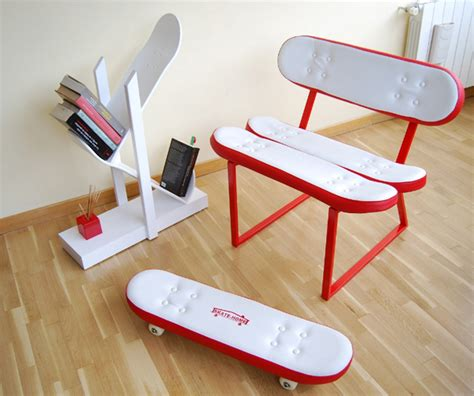 Bedroom Ideas For Teenagers Boys cool furniture ideas with skateboard style from skate home