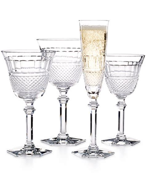 baccarat crystal barware baccarat diamant stemware collection all glassware