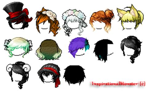 maplestory hair style locations 2014 maplestory random hair batch by inspirationalmonster