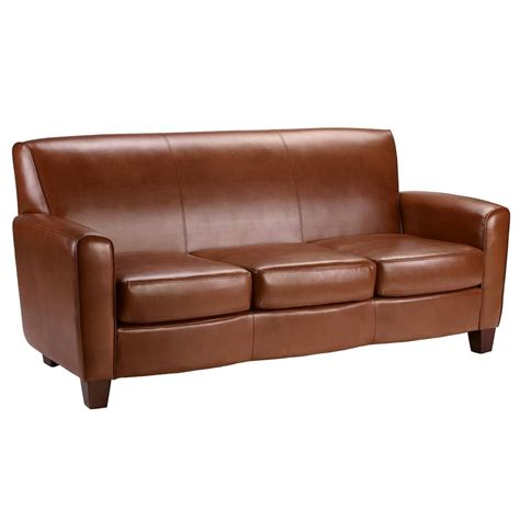 camel leather sofa home loccie better homes gardens ideas