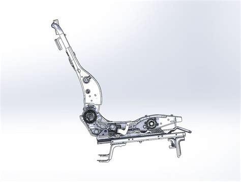 car seat frame materials frame of car seat step iges 3d cad model grabcad