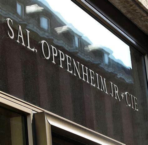 bank sal oppenheim privatbanken das schwierige zweite leben sal